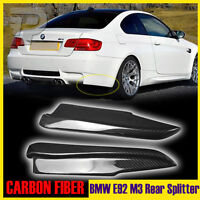 Carbon Fiber Splitter Rear Bumper Lip Spoiler 2Pcs E92 E93 M3 BMW 3-Series