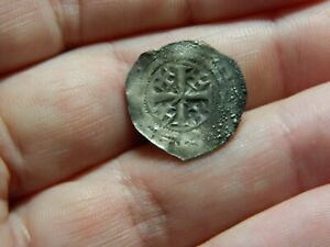 Medieval hammered silver coin Henry 2nd Tealby penny Metal detecting detector
