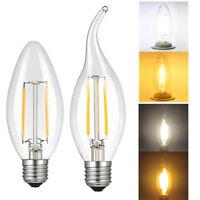 5X 2/4/6W E26 LED Bulb LED COB Light Bulb Filament Chandelier Candle Lamp