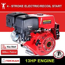 13HP Petrol Engine OHV Stationary Motor Horizontal Shaft Electric Start Recoil