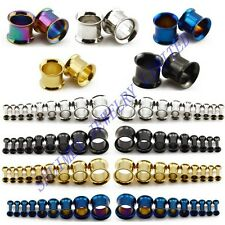 2mm-50mm Double Flare Stretcher Earplug Steel Metal Earing Flesh Tunnel Expander