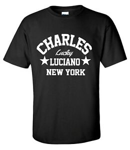 Charles Lucky Luciano New York Gangster Mob Mafia T-Shirt