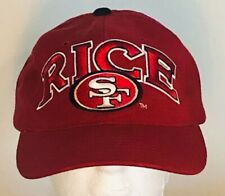 VINTAGE 90s Hat San Francisco 49ers NFL Starter Jerry Rice #80 Embroidered EUC