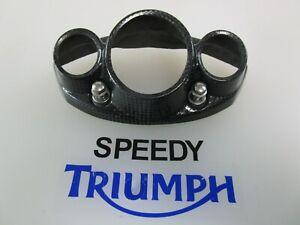 TRIUMPH DAYTONA 675 CARBON FIBER EXHAUST END CAP A9728027 FITS 2006 -2012