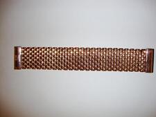 """Vintage Bronze Milor Italy Mesh Magnetic Close bracelet ROSE GOLD 7 1/4"""" Long"""