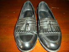 Florsheim Black Leather Tassell Loafers 10 D