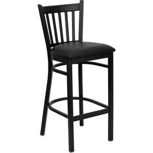 Flash Furniture Metal Restaurant Bar Stool, Black - XU-DG-6R6B-VRT-BAR-BLKV-GG
