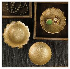 Plates Gilded Flower Bowls (set of 3) jewelry holder / dessert bowl new