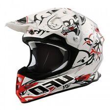 UFO Warrior H1 Tribal Advanced Helmet - Motocross Enduro - White/Adult Medium