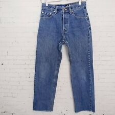 LEVIS Womens silver tab Guys Fit straight leg Mom jeans No size tag Measure 26