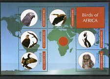 Gambie 2011 neuf sans charnière oiseaux d'Afrique 6V m / s, je Parrot EAGLE OWL Penguin cormoran