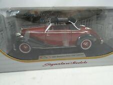 1:18 Signature Models - 1950 Mercedes-Benz 170S Convertible rojo vino - RAREZA §