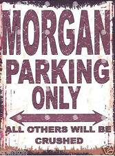 MORGAN PARKING SIGN RETRO VINTAGE STYLE 8x10in 20x25cm garage workshop art