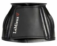 LeMieux RUBBER BELL No Rub Flexible OVERREACH Over Reach Boots Black S-XXL
