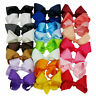 6 INCH BIG BOWS BOUTIQUE HAIR CLIP PIN ALLIGATOR CLIPS GROSGRAIN RIBBON GIRL BOW