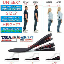 7cm Men Shoe Lift Insole Air Cushion Heel insert Increase Taller Height 3-Layer