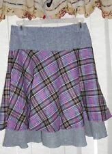 Women lady  A Line lattice  springs winter skirt