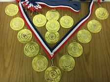 Pack of 16 Football Medals on Ribbons, Perfect for a Football Birthday Party