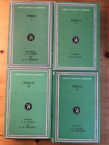 PHILO 1, 2, 3, 4 (Colson, Whitaker) Loeb Classical Library - Greek & English