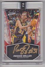 REGGIE MILLER 2017 Panini Instant Access NBA On Card Auto #D 1/25 Indiana Pacers