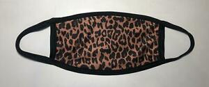 Leopard Cheetah Animal Print Tiger Face Mask Washable Safe Adult Stretchy Masks