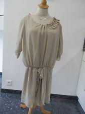 Robe beige cérémonie fille  taille12 ans