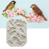 Bird and Flower Silicone Fondant Mold Cake Decor Tool Chocolate Gumpaste Mould