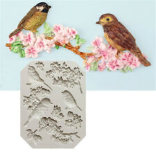 Bird and Flower Silicone Fondant Mold Cake Decor Tools Chocolate Gumpaste FF