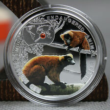 Niue 2014 Red Ruffed Lemur - Endangered Animal Species 1/2 oz Proof Silver Coin