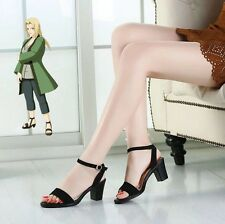 Naruto Haruno Sakura Tsunade Cosplay shoes boot black high heel version B