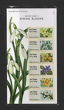GB 2014 POST AND GO BRITISH FLORA 1 SPRING BLOOMS STAMP SET MINT (P&G 14)REPRINT