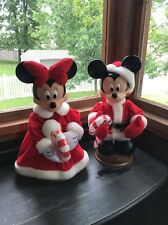 SANTA'S BEST Disney Mickey & Minnie Mouse Animated Motionette Christmas Set