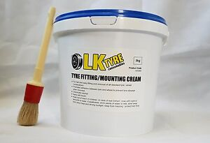 TYRE FITTING CREAM  WITH FREE BRUSH - PREMIUM LUB / PASTE / SOAP TYRE CHANGER