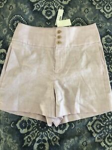 J Crew triple button stretch linen shorts 6 NWT