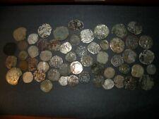 Medieval Silver Billon 55 Coins Lot 1100-1500's Crusader Templar Cross Ancient