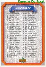 300 CHECKLIST 201-300 CL  BASEBALL CARD UPPER DECK 1992