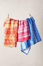 Anthropologie Minola Pink Tea Towel Dishtowel Cotton Patterned Dish Towels