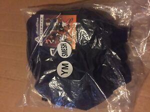 Akadema SMESH.NVY-YM Sport Shorts color NAVY  size YM - Youth Medium - New