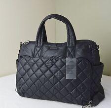 Michael Kors Black Quilted Nylon ROBERTS Medium Gym Duffle Travel Bag