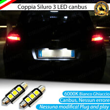 COPPIA LAMPADE TARGA LED RENAULT MEGANE II 6000K BIANCO CANBUS NO ERROR