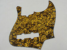 D'ANDREA PRO JAZZ BASS PICKGUARD 10 HOLE GOLD PEARLOID MADE IN THE USA