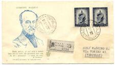 Repubblica Italiana : FDC Venetia Club n° 15 GIuseppe Mazzini 1949 raccomandata