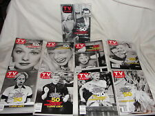 2001 I Love Lucy 9pc Tv Guide Collector Set-Mint