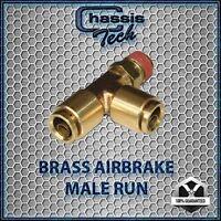 V Tee Male Run 3/8NPT x 3/8 tube x 3/8 tube