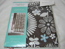 New Traditions by Waverly Gemma Espresso  Fabric Shower Curtain Floral 70x72