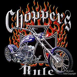T-Shirt Biker Chopper Rocker Motorrad Bobber Custom *4059 bl