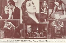 "Helen Craig ""JOHNNY BELINDA"" Bertha Belmore / Beau Tilden 1941 Broadway Postcard"