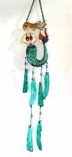 Mermaid Glass Suncatcher Wind Chime Porch or Patio Decor