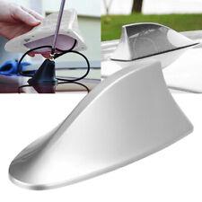 Universal Car Shark Fin Roof Antenna Radio FM/AM Decorate Aerial Silver UK