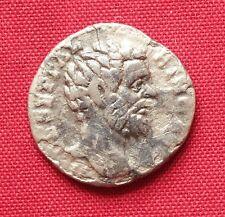 Ancient Roman Clodius Albinus Silver Denarius, Rare!